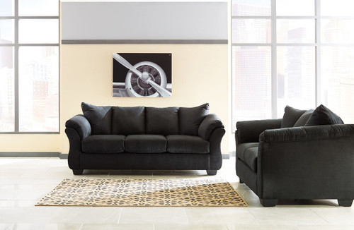 Darcy Black Sofa & Loveseat