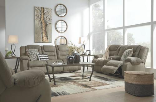 Segburg Cobblestone Reclining Sofa, Double Reclining Loveseat with Console & Rocker Recliner