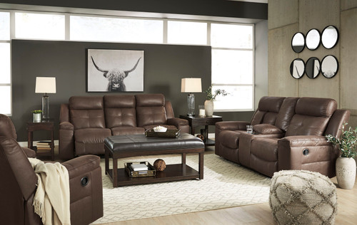 Jesolo Coffee Reclining Sofa, Reclining Loveseat & Rocker Recliner