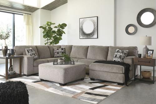 Ballinasloe Platinum LAF Sofa, Armless Loveseat & RAF Corner Chaise Sectional