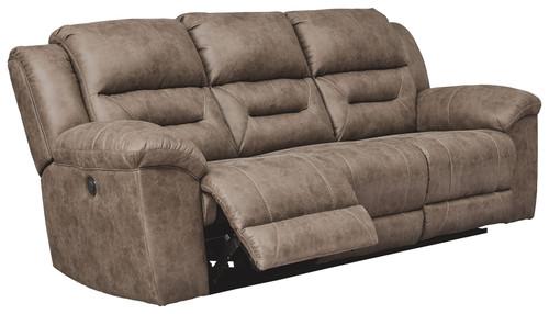 Stoneland Fossil Reclining Power Sofa