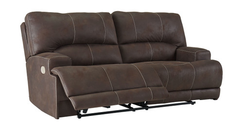 Kitching Java 2 Seat Power Reclining Sofa/Couch ADJ HDREST
