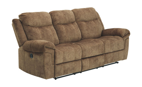 Huddle-Up Nutmeg Reclining Sofa w/Drop Down Table