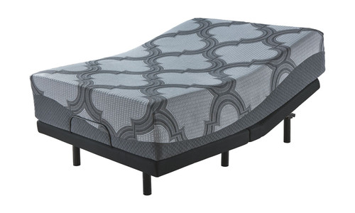 14 Inch Ashley Hybrid Gray Queen Mattress & Adjustable Base