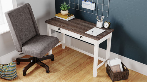 Dorrinson Two-tone Desk & Swivel Desk Chair