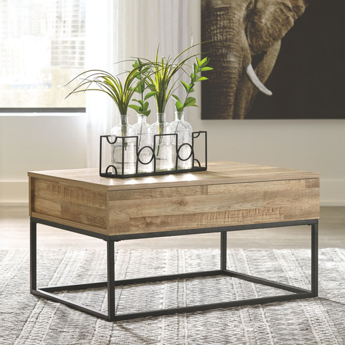 Gerdanet Natural Lift Top Cocktail Table