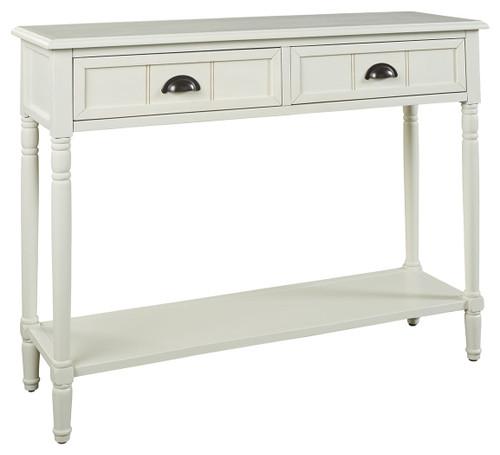 Goverton White Console Sofa Table