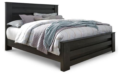 Brinxton Charcoal King Panel Bed