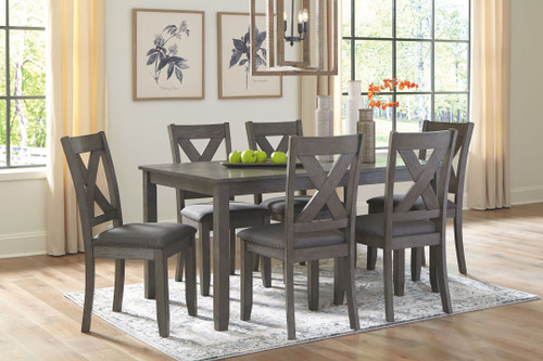 Caitbrook Gray Rectangular  Table Set (7/CN)