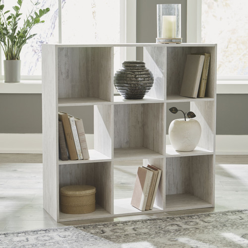 Paxberry Whitewash Nine Cube Organizer