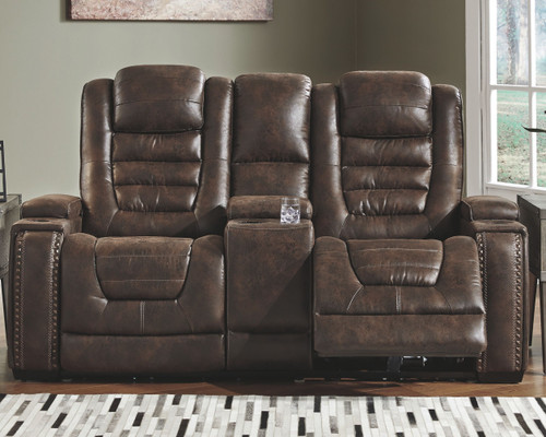 Game Zone Bark Power Reclining Loveseat/CON/ADJ HDRST