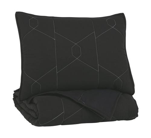 Meliora Black/White/Gray Twin Quilt Set