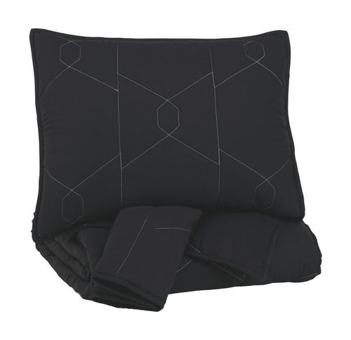 Meliora Black/White/Gray Full Quilt Set