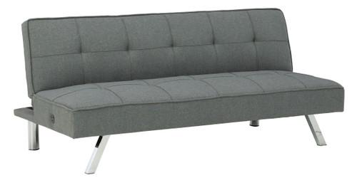 Santini Gray Flip Flop Armless Sofa