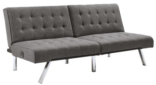 Sivley Charcoal Flip Flop Armless Sofa