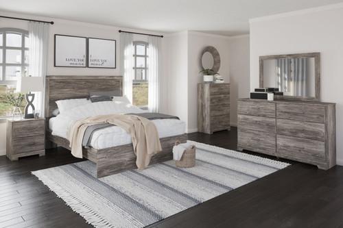 Ralinksi Gray 7 Pc. Dresser, Mirror, Chest, Queen Panel Bed, 2 Nightstands