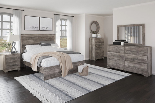 Ralinksi Gray 4 Pc. Dresser, Mirror, Queen Panel Bed