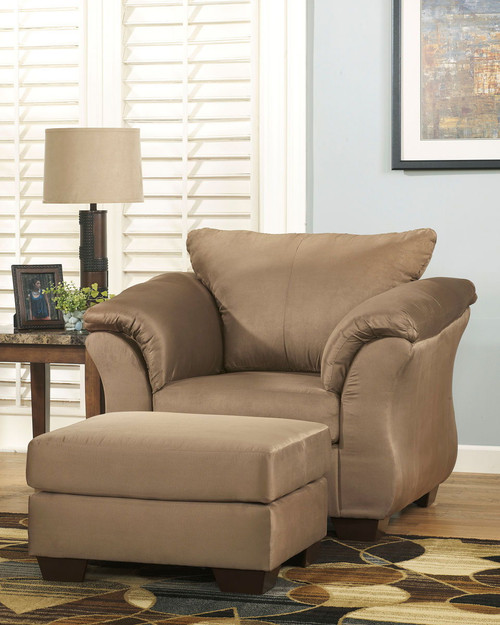 Darcy Mocha Chair with Ottoman