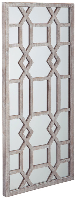 Leora Antique Gray Accent Mirror