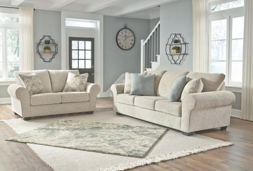 Haisley Ivory 2 Pc. Sofa, Loveseat