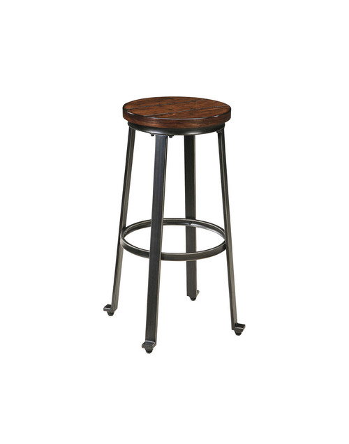 Challiman Rustic Brown Tall Stool