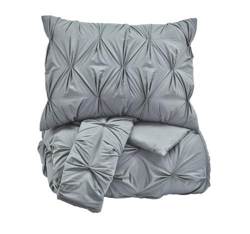 Rimy Gray King Comforter Set