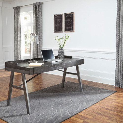 Raventown Grayish Brown Home Office Desk