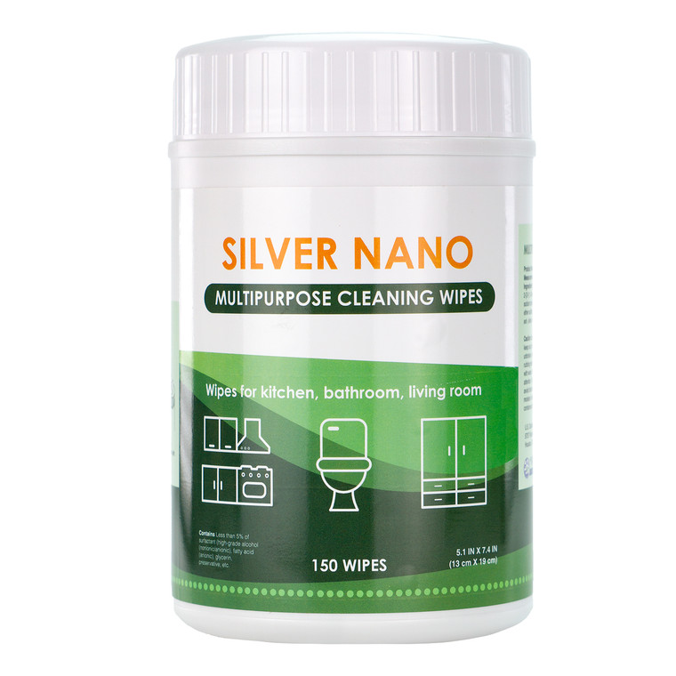 Silver Nano, Multipurpose Cleaning Wipes 150ct