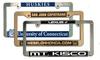 Custom Chrome Faced Engraved Panel License Plate Frames