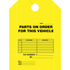 Fluorescent yellow hang tag, one color