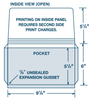 "Custom Cardstock 9 7/8"" x 6""  Expansion Document Folder"