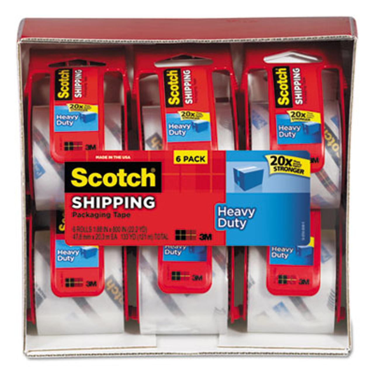 "3850 Heavy-Duty Packaging Tape in Sure Start Disp., 1.88"" x 22.2yds, 6/Pack"
