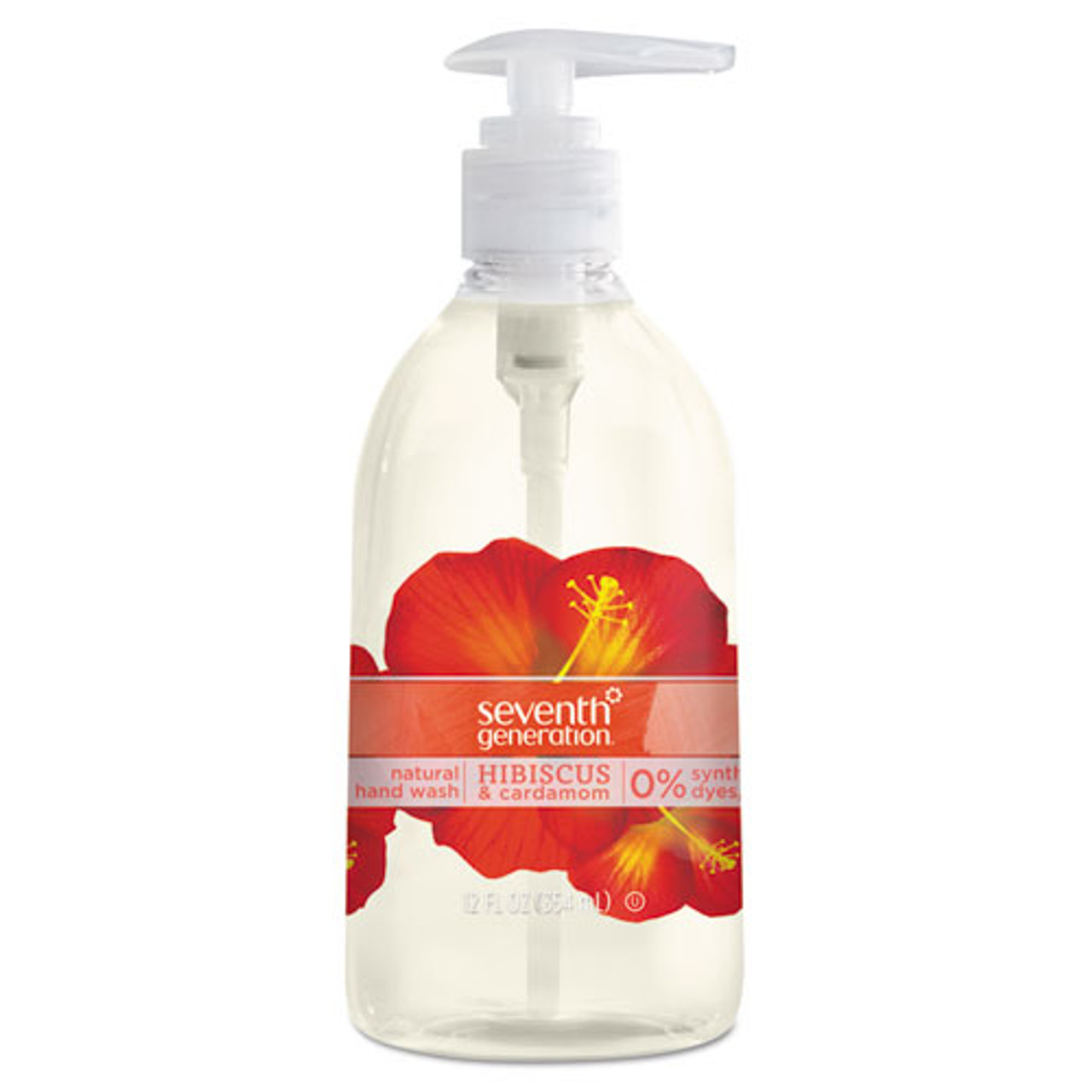 Natural Hand Wash, Hibiscus & Cardamom, 12 oz Pump Bottle