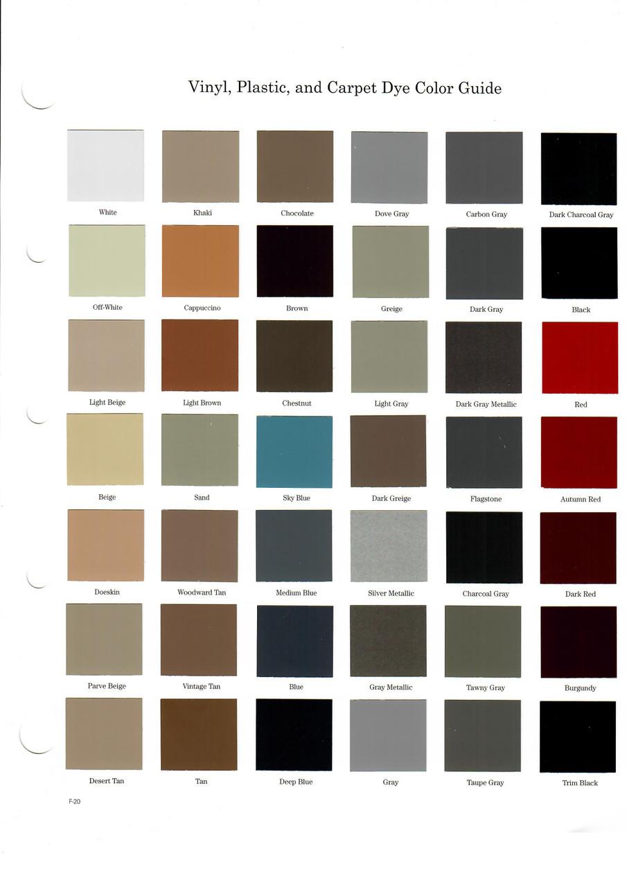 Vinyl, Plastic & Carpet Dye