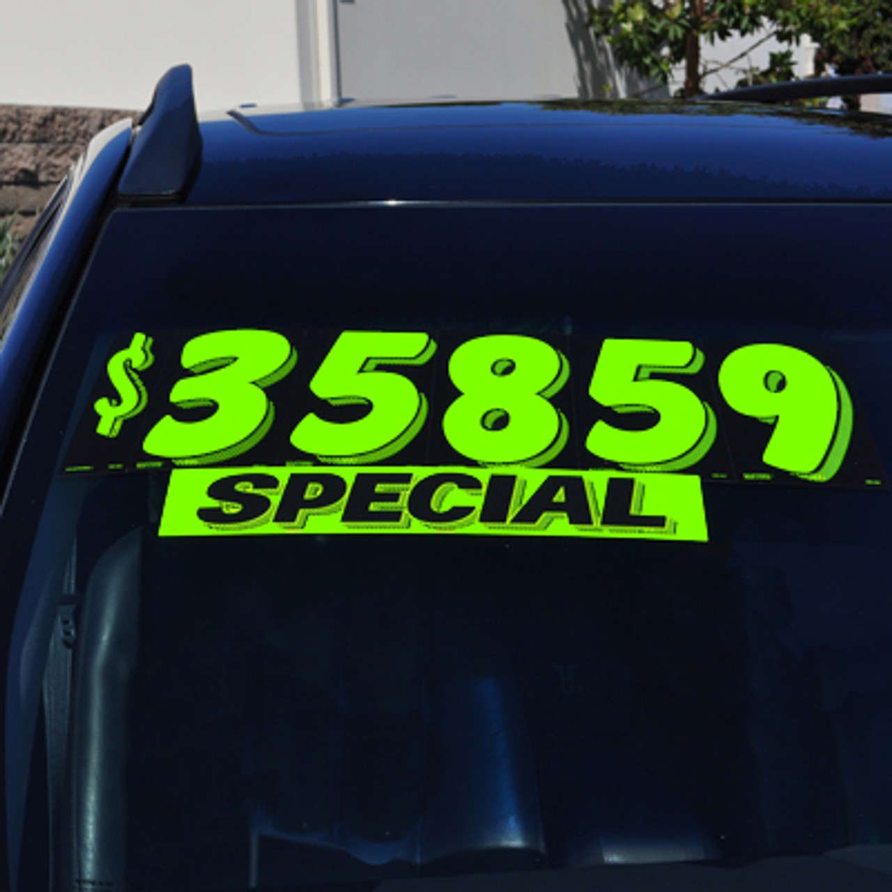"""7 1/2"""" Chartreuse Adhesive Windshield Numbers"""