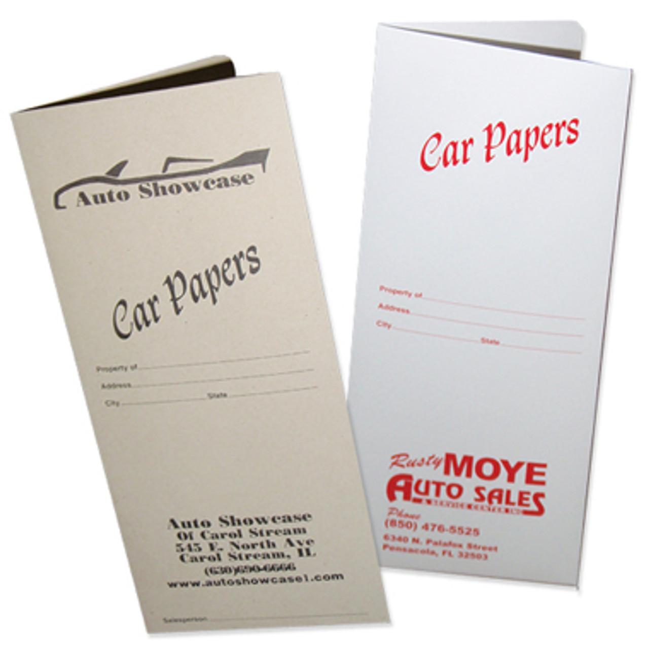Car Paper Document Folder