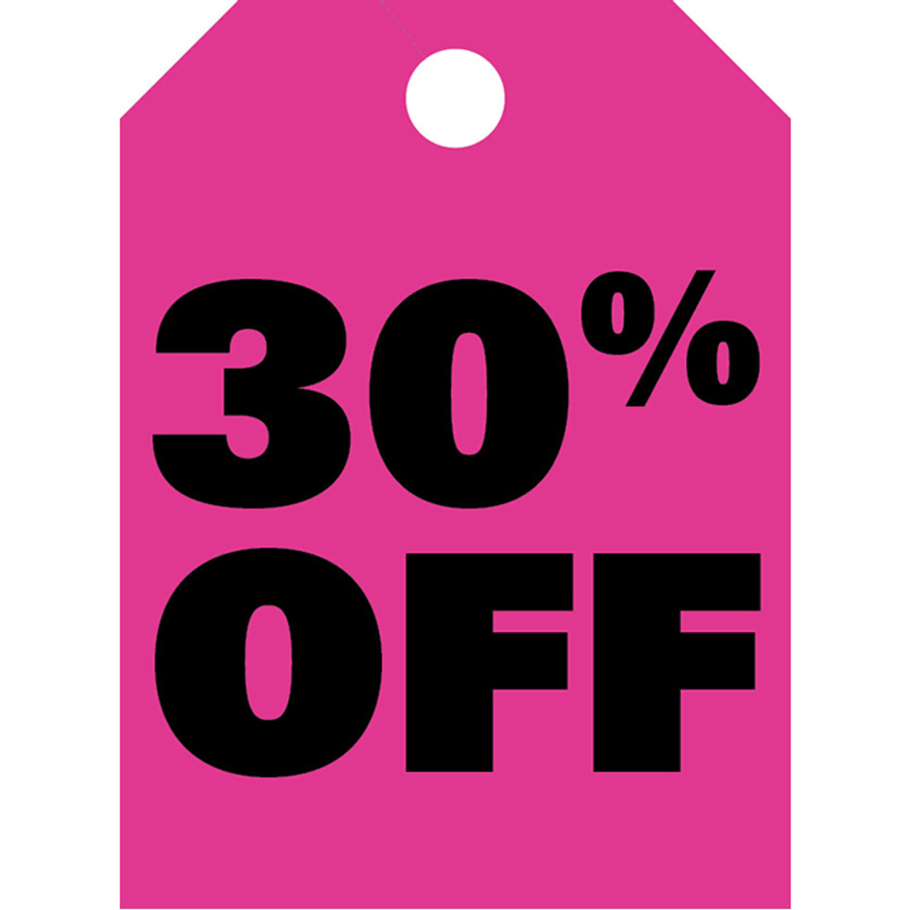 Fluorescent pink hang tag, one color