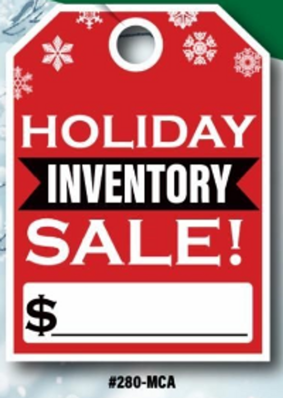 Holiday Inventory Sale Hang Tags   50 per pack