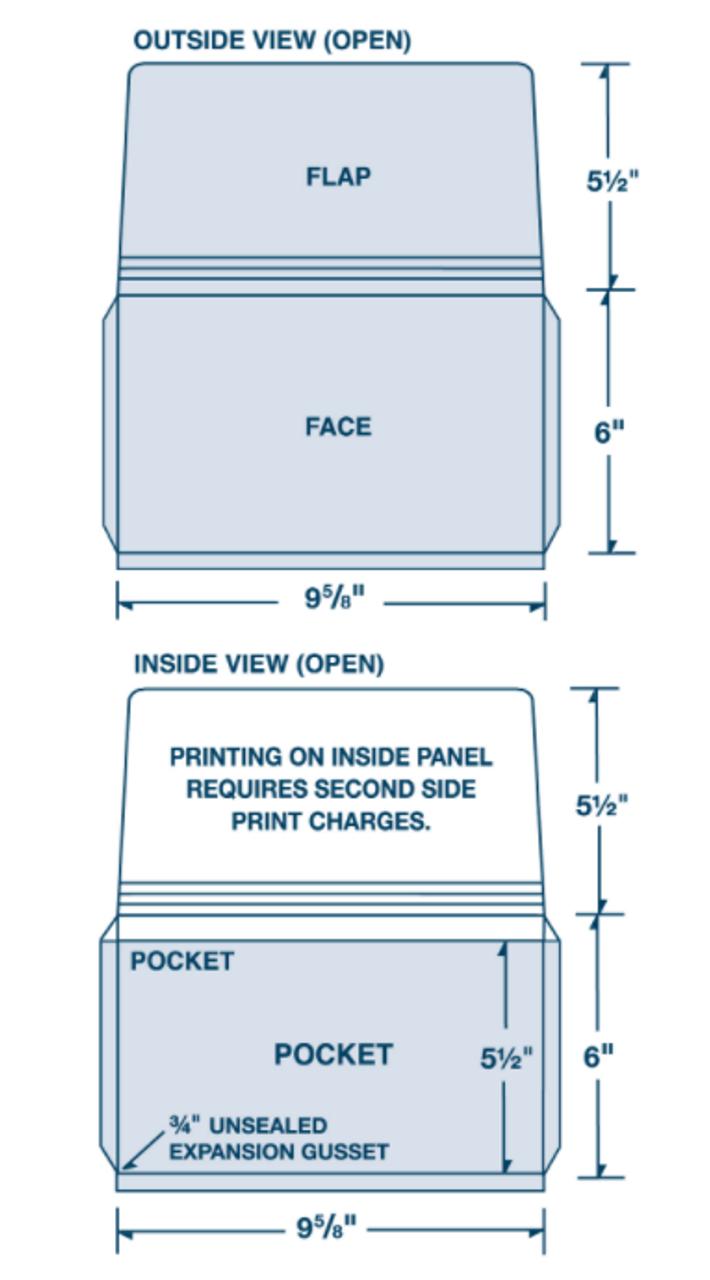 "Custom Cardstock 9-5/8"" x  6"" Digital Print Expansion Portfolio"