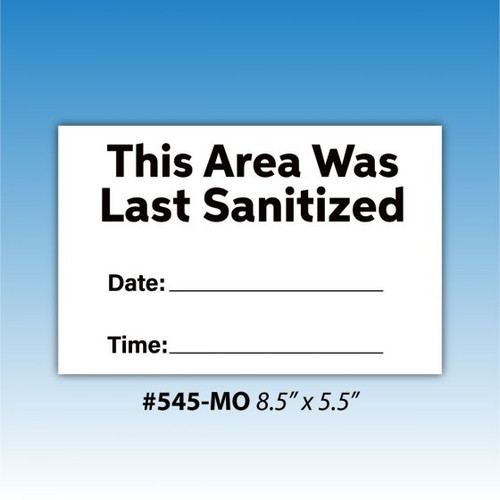 "Dry Erase Notice To Social Distancing 8.5"" x 5.5"""
