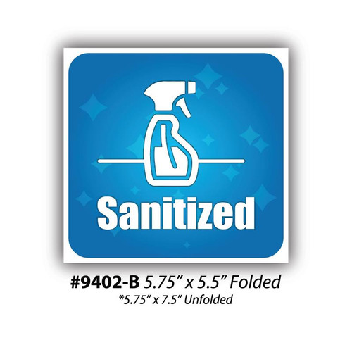 """Sanitized Table Sign, 5.75"""" x 5.5"""""""
