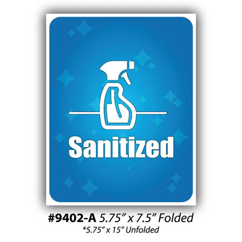 """Sanitized Table Tents, 5.75"""" x 7.5"""""""