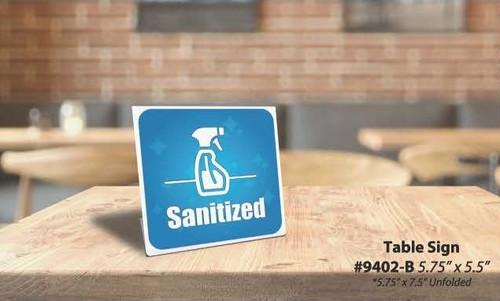 """Sanitized Windshield Oval, 14"""" x 5 1/2"""""""