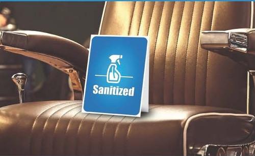 "Sanitized Windshield Slogan, 14 1/2"" x 2 3/4"""