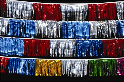 Metallic Starburst Pennants