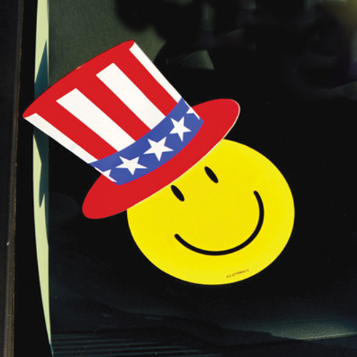 Patriotic Hat Decals, Happy Face and Stars Sold Separately