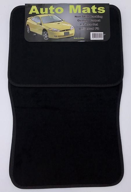4 Pc. Carpet Mat Set w/ Heel Pad - Black