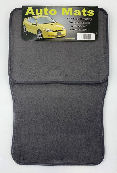 4 Pc. Carpet Mat Set w/ Heel Pad - Charcoal