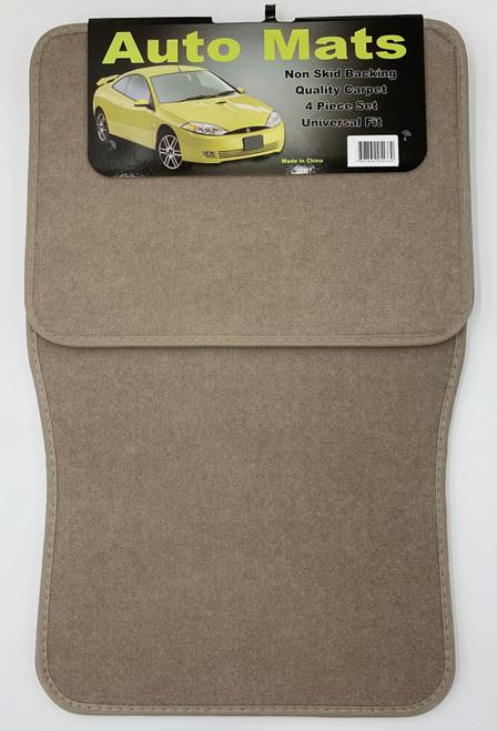 4 Pc. Carpet Mat Set w/ Heel Pad - Beige