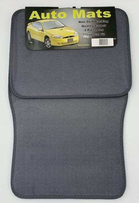 4 Pc. Carpet Mat Set w/ Heel Pad - Gray